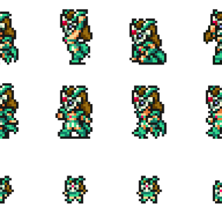 Sprites of the Gladiator.