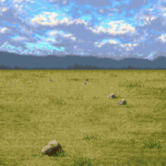 Battle background (grasslands) (GBA).