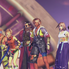 The party on the <i>Fahrenheit</i> in <i>Final Fantasy X</i>.