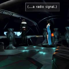 Esthar Airstation establishes contact with <i>Ragnarok</i>.
