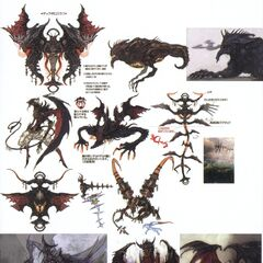 Artwork of Diabolos if he had appeared in <i>Final Fantasy XIII</i>.