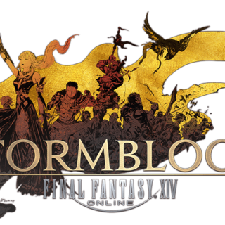 <i>Final Fantasy XIV: Stormblood</i> logo without Japanese text.
