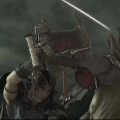 thumb|Jecht and Firion fight in the FMV opening sequence.