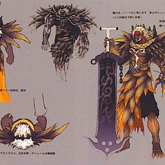 Concept art of Jecht's EX Mode appearance.