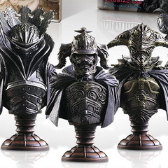 Judge Magister busts from <i>The Zodiac Age</i> Colector's Editions.