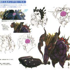 Концепт-арт Царя-бегемота из <i>Final Fantasy Crystal Chronicles: The Crystal Bearers</i>.