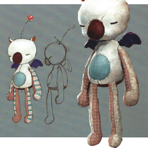 Concept art of the moogle doll.