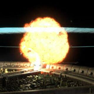 Original FMV of the reactor explosion.