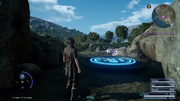 Warp pad to Close Encounter of the Terra Kind from FFXV