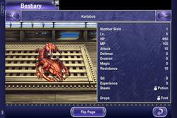 FFV iOS Bestiary Karlabos