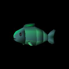 Green fish.