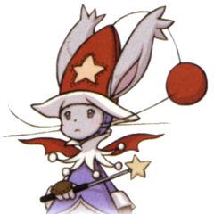 A moogle as a Time Mage in <i>Final Fantasy XII: Revenant Wings</i>.