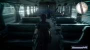 Prompto as Ardyn on the train in FFXV