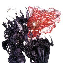 Рисунок Ёситака Амано для версии Advance Final Fantasy VI - Терра едет на Бронекостюме Магитек.