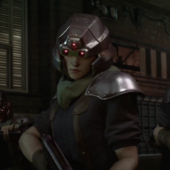 Shinra infantryman in Final Fantasy VII Remake.