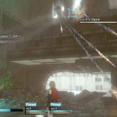 Vajra fires into the A-13 Building.