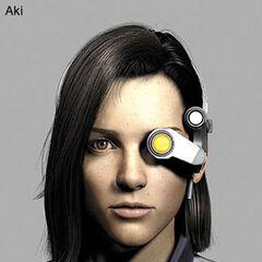 Aki's goggle (front).