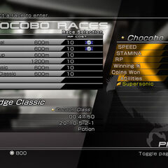 Chocobo races menu (2).