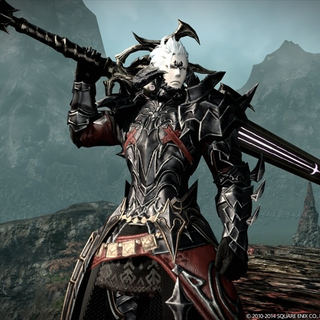 In-game render of an Auri Dark Knight.