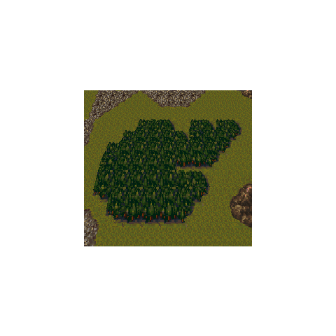 Dinosaur forest on the World Map (SNES).