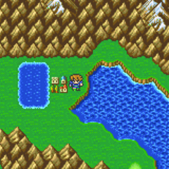 Tule on the World Map in the Merged World (GBA).