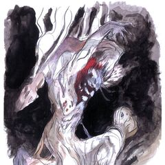 Alternate Amano artwork of the Wendigo.