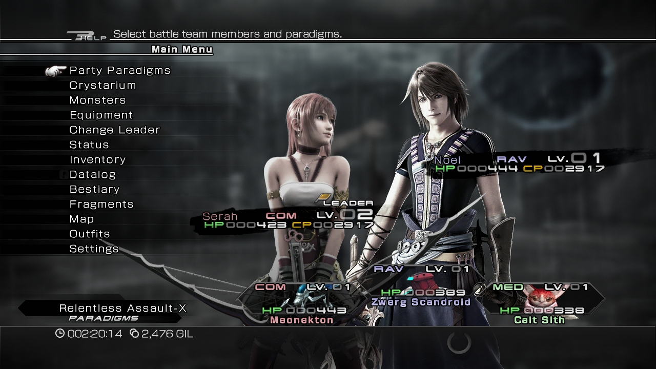 Ffx 13 2 outfits