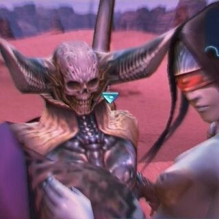 Zalera summoned in battle in <i>Final Fantasy XII</i>.