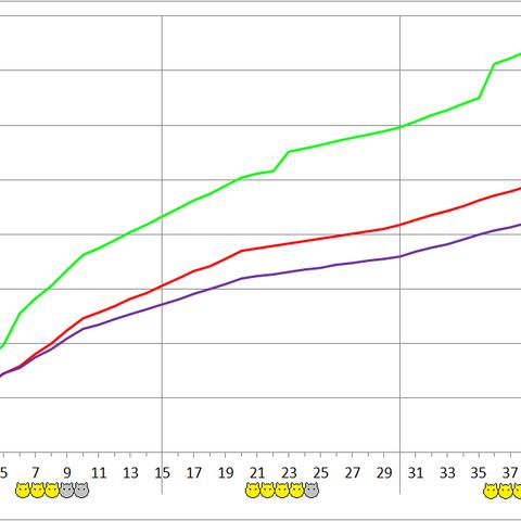 Chunerpeton development chart.