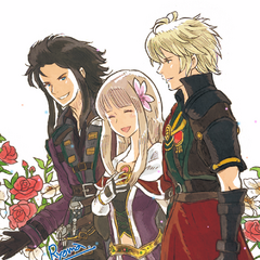 Artwork of Fina, Lasswell and Rain designed by <a href=