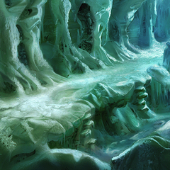 A section of the path through the Ice Cavern.