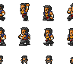 Set of Raijin's sprites.