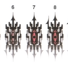As diferentes fases da marca l'Cie de Pulse.