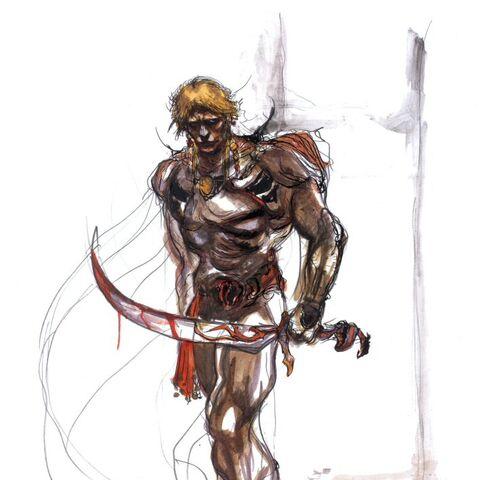 Amano artwork of Titan.