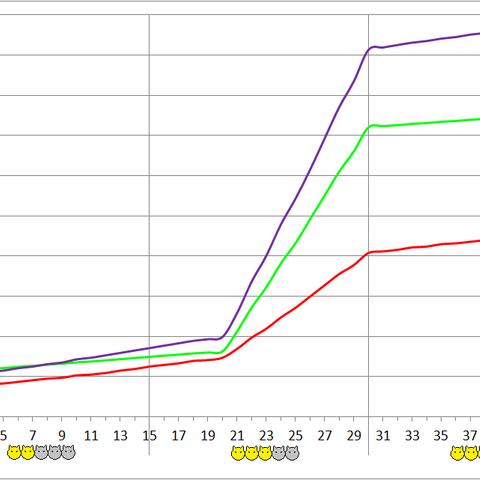 Amanojaku development chart.