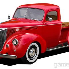 A red car.