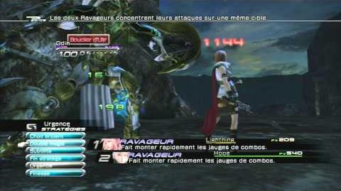 Final Fantasy XIII Combat contre Odin