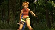 Rikku in battle