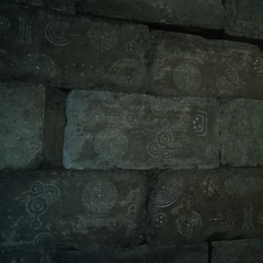 Symbols on the walls.