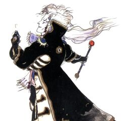 Рисунок Сетцера работы Ёситаки Амано в стиле чиби.