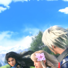 Rain, with Fina and Lasswell, at the ending of Season Two.