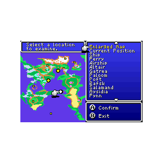 In-game world map (GBA).