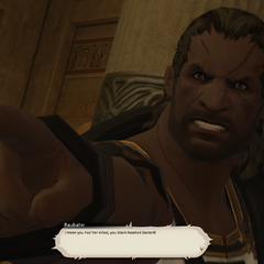 Raubahn doesn't believe Teledji's lies.