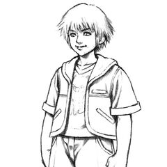 Concept artwork of young Tidus.