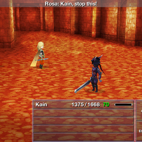 Battle against Dark Kain in the iOS version.