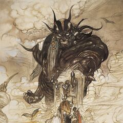 Yoshitaka Amano's original design of Garland, dubbed the