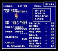 FFV Restored Catch on Status Menu