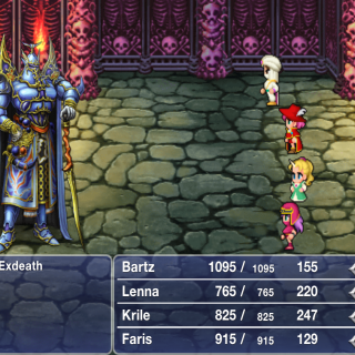 Exdeath's battle graphic in the iOS version.