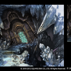 Crystal Tower gate in Mor Dhona.