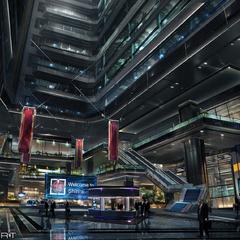Shinra Building lobby.